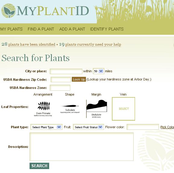 plant identification database