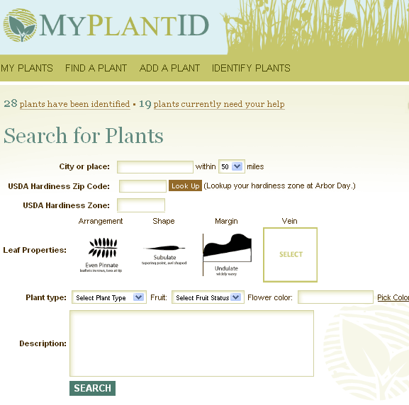 plant identification database