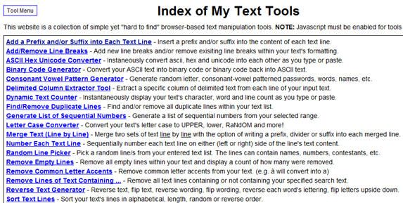 text manipulation tools