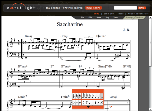 noteflight   NoteFlight: Free Online Music Composer & Note Editor