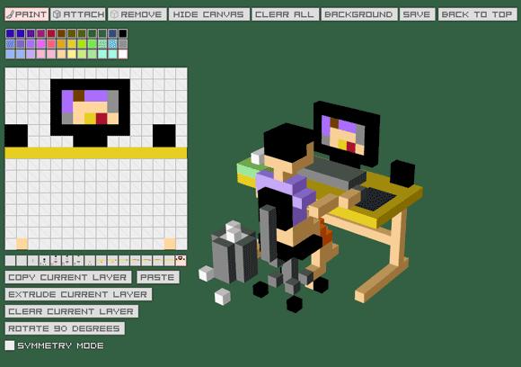 Q block free pixel art creator 3d creator free