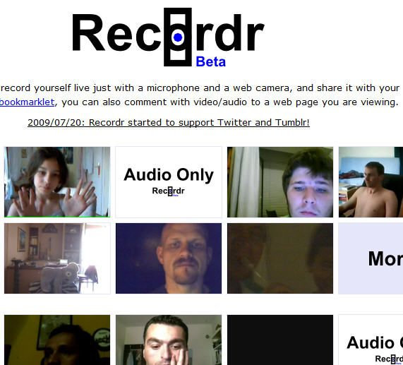 recordr1   Recordr: Easy Audio / Video Recording & Sharing