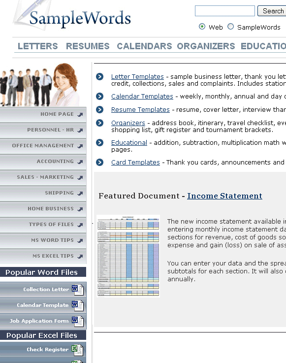 samplewords   SampleWords: Free Business Document Templates & Forms