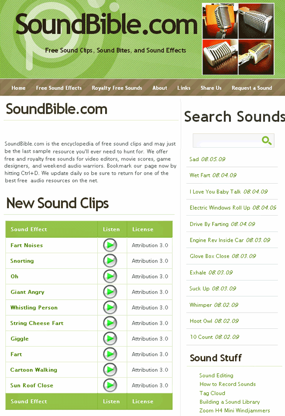 soundbible   SoundBible: Free To Download MP3 & WAV Sounds