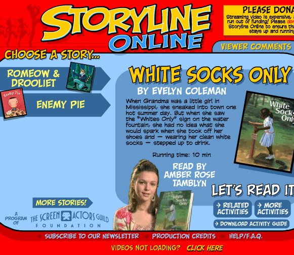 storylineonline   StoryLineOnline: Videos of Childrens Books Read Online