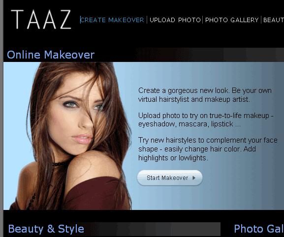 taaz   Taaz: Upload A Photo & Create A Virtual Makeover