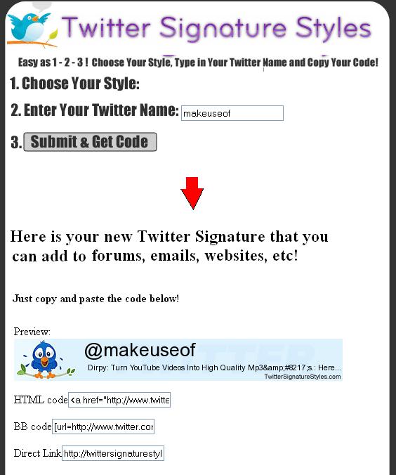 twitter signature