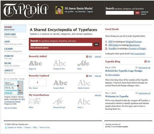 encyclopedia of typefaces