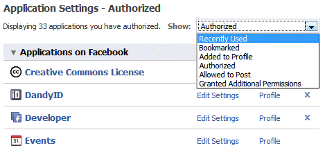 Authorized Apps