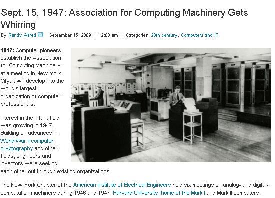 historical tech events calendar
