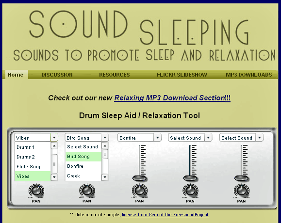 SoundSleeping   SoundSleeping: Listen To Relaxing Music Online