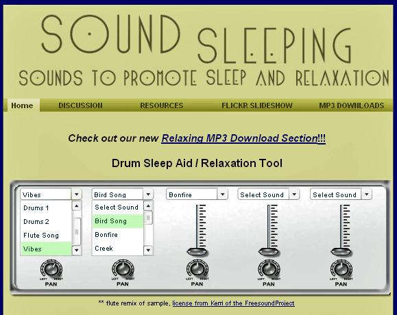 SoundSleeping   SoundSleeping: Listen To Relaxing Music Online