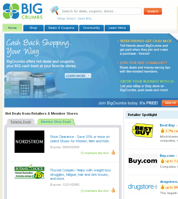 get cash back when shopping online