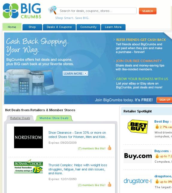 get cash back when shopping online