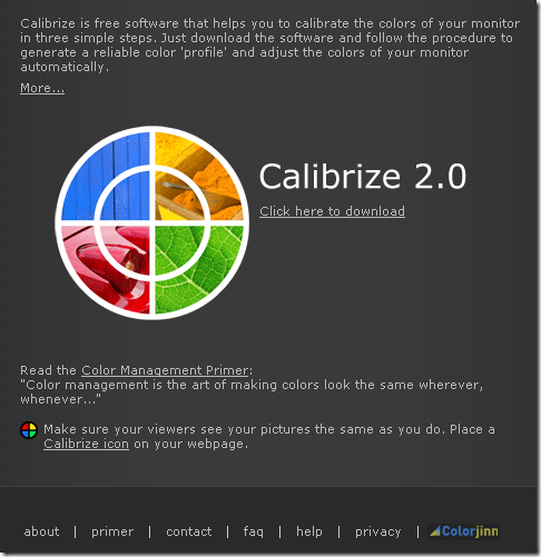color calibrate your monitor