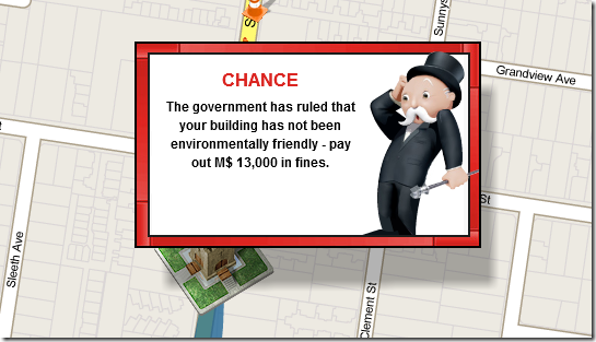 Play Monopoly Online with Other People using World Streets chance