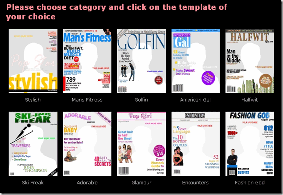Magazine Cover Template Free | Create Your Own Custom Magazine Covers With Coverdude