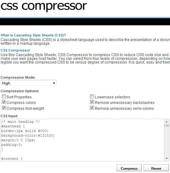 online compression tool