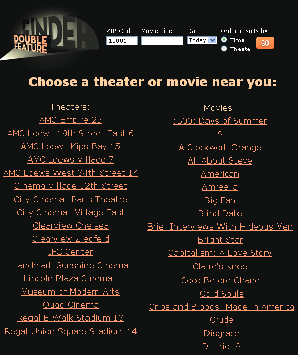 local movie theater showtimes