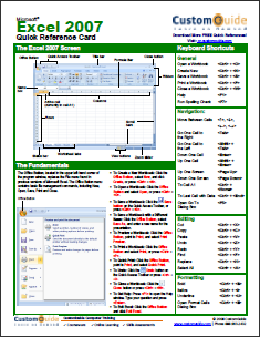 14 Application Cheat Sheets & Posters for Popular Programs excelcs