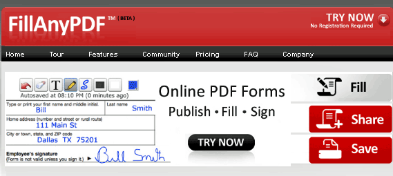 fillanypdf   FillAnyPDF: Free PDF Form Fill In Tool