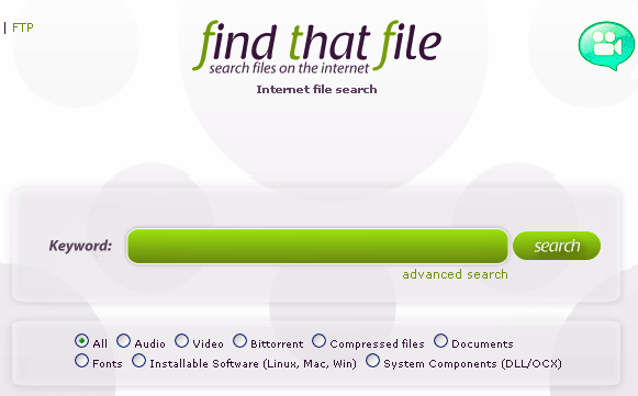 search files on the internet
