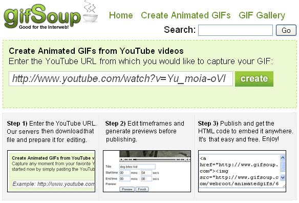 gifsoup1   GifSoup: YouTube Video To GIF Converter