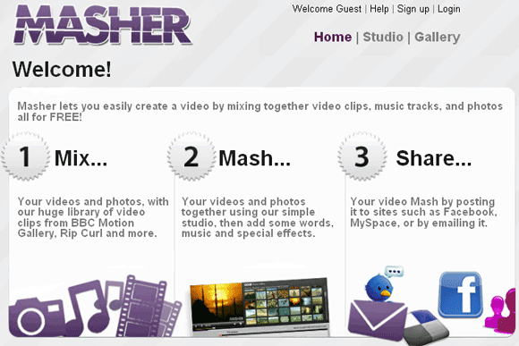 masher   Masher: Create Videos by Mixing Video Clips, Photos & Music