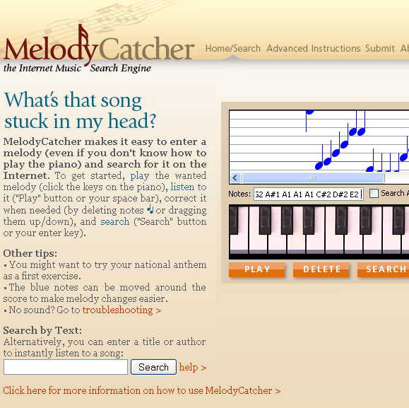 melodycatcher   MelodyCatcher: Melody Search Engine
