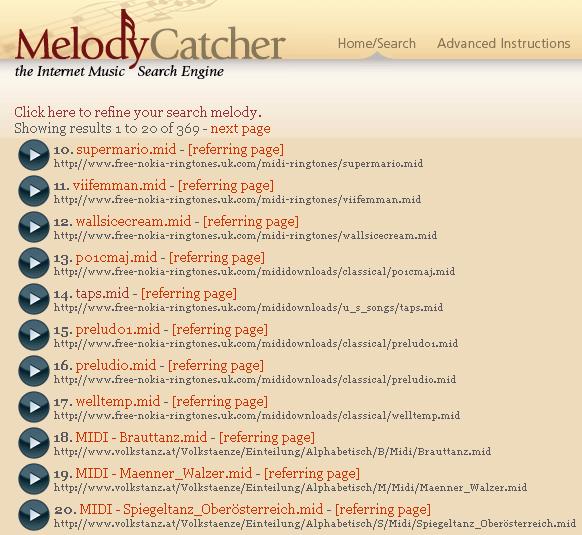 melody search