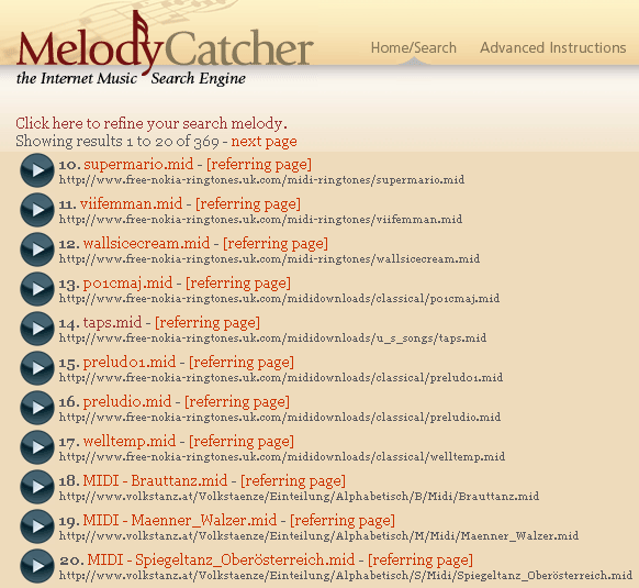 melody search