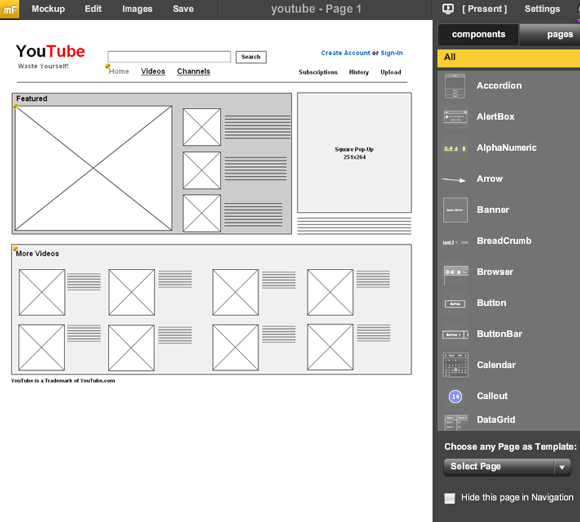 user interface mockups