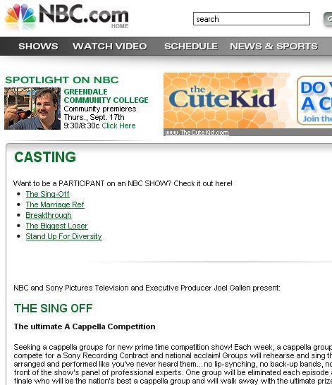 reality tv casting