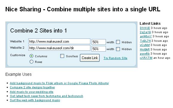 combine websites