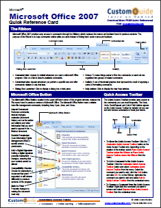 14 Application Cheat Sheets & Posters for Popular Programs office2007