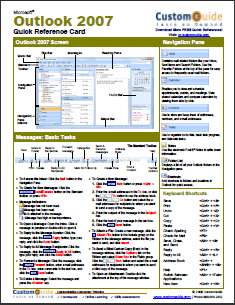 14 Application Cheat Sheets & Posters for Popular Programs outlookcs
