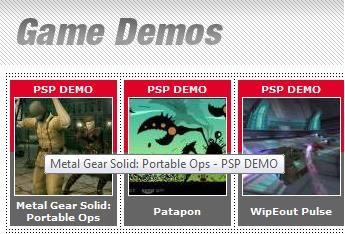 psp game demo downloads