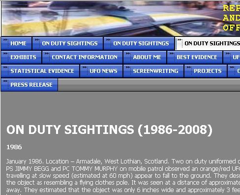PRUFOS police sighting database