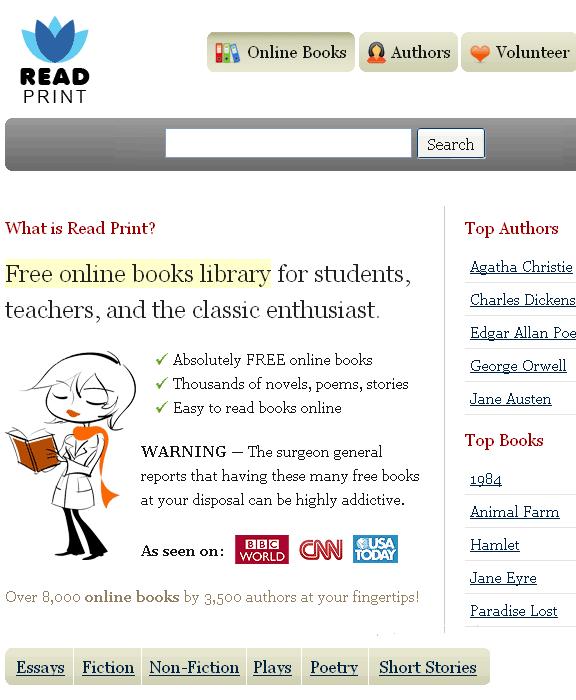 readprint   ReadPrint: Read Whole Books Online