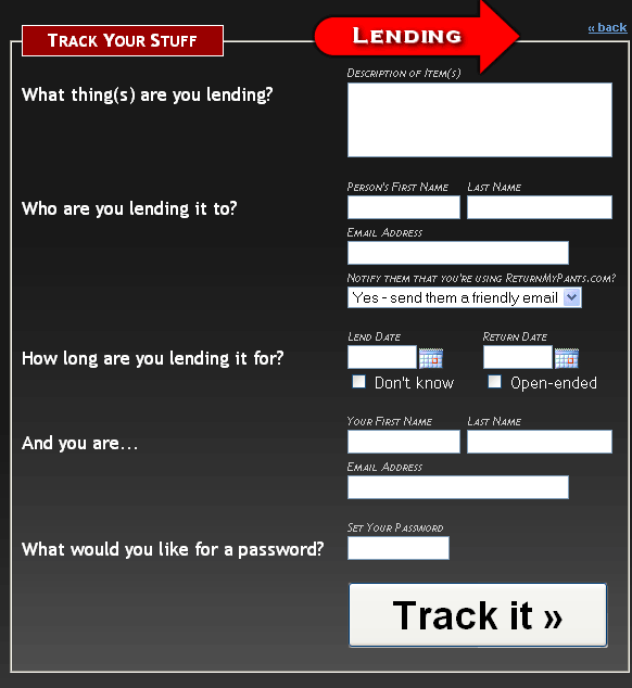 returnmypants1   ReturnMyPants: Easily Track Borrowed & Lent Items