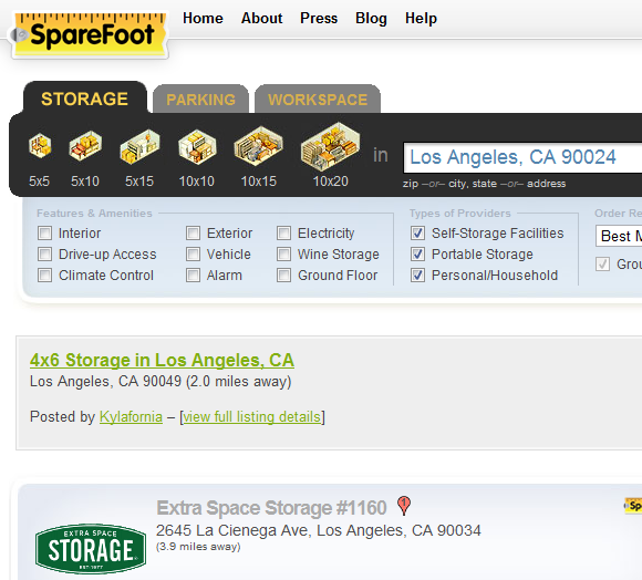 sparefoot1   SpareFoot: Turn Unused Home Storage Space into Cash