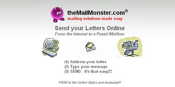 TheMailMonster Send Postal Mail line for Free