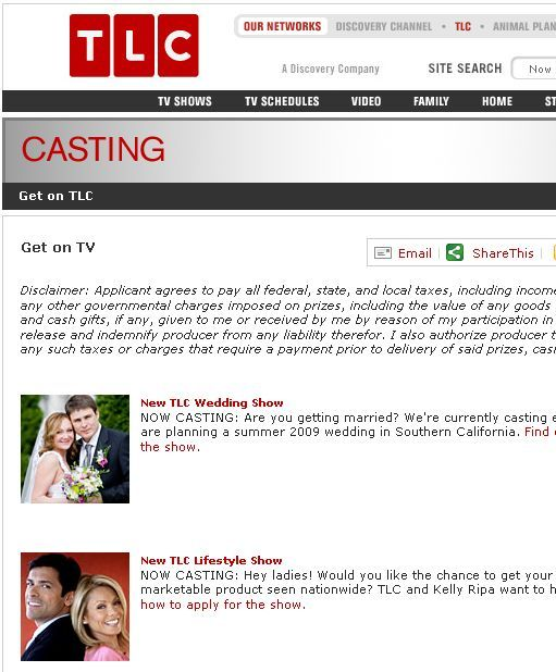 reality tv applications