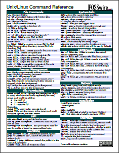 14 Application Cheat Sheets & Posters for Popular Programs unixcommandref