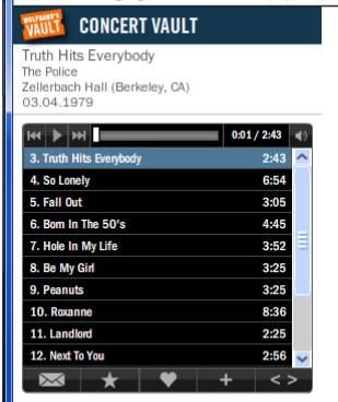 ConcertVault4   Concert Vault: Listen To Live Concert Recordings Online