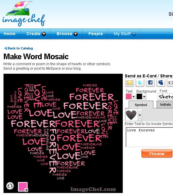 make word mosaic