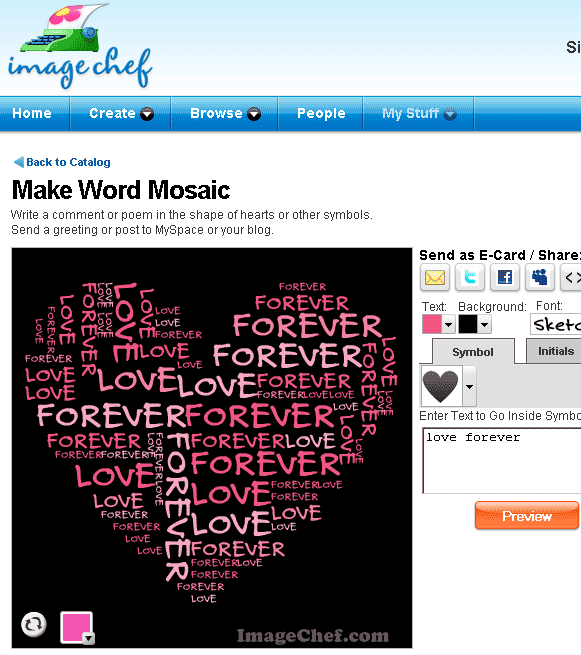 make word mosaic