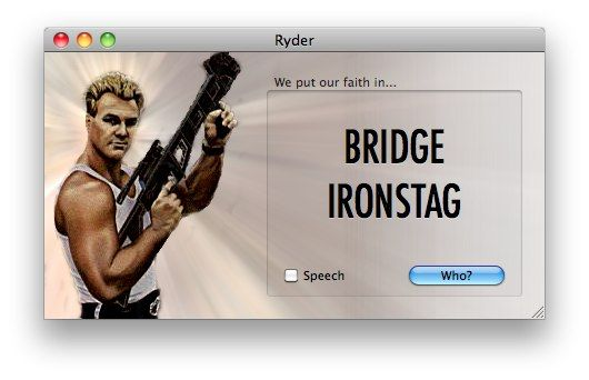 Create Cool Fantasy Nicknames with Ryder - A Macho Name Generator [Mac] Screen shot 2009 10 05 at 1