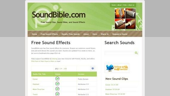 Top 5 Sites For Free Sound Effects Downloads bible