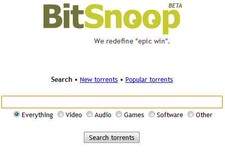 bitsnoopsearch thumb   BitSnoop: A New Torrent Search Engine